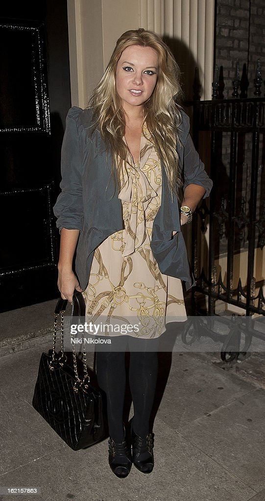 Goldie Rocks is pictured during London Fashion Week on February 19, 2013 in London, England.