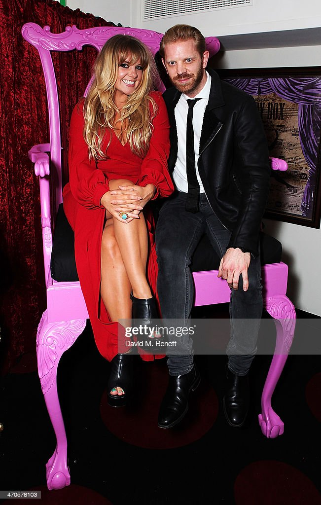 Goldierocks (R) Alistiar Guy is seen at Warner & Belvedere Post BRIT Awards party at The Savoy Hotel on February 19, 2014 in London, England.