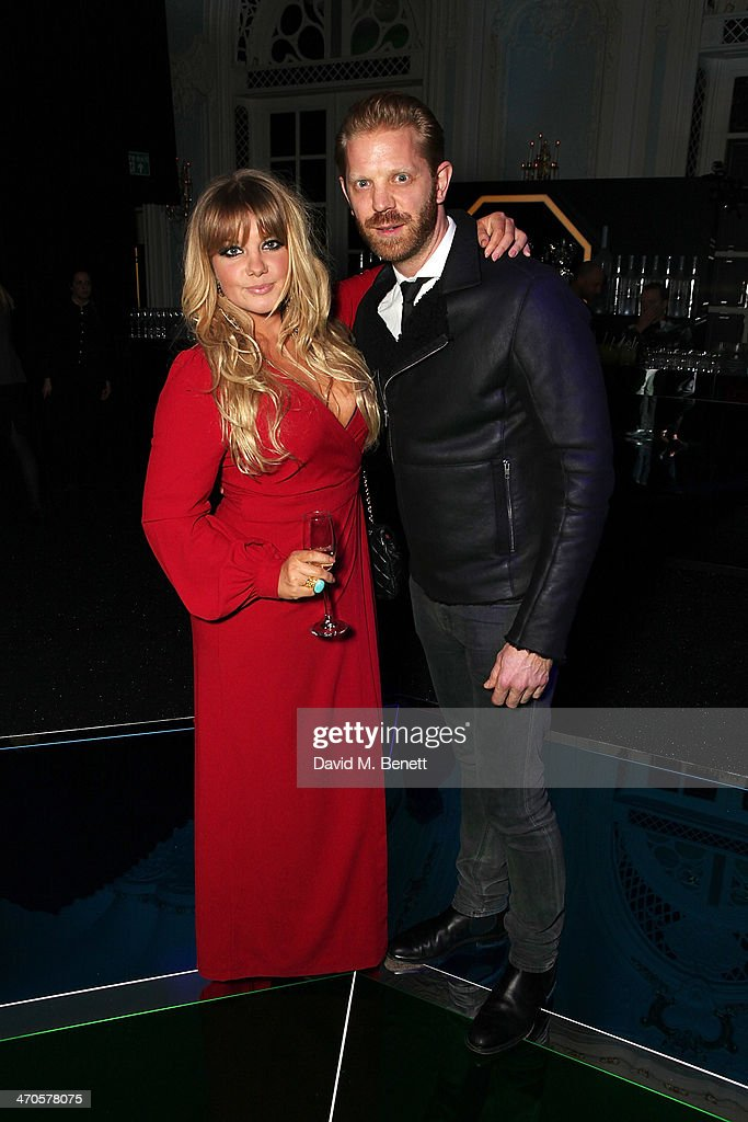 Goldierocks (L) and Alistair Guy is seen at Warner & Belvedere Post BRIT Awards party The Savoy Hotel on February 19, 2014 in London, England.
