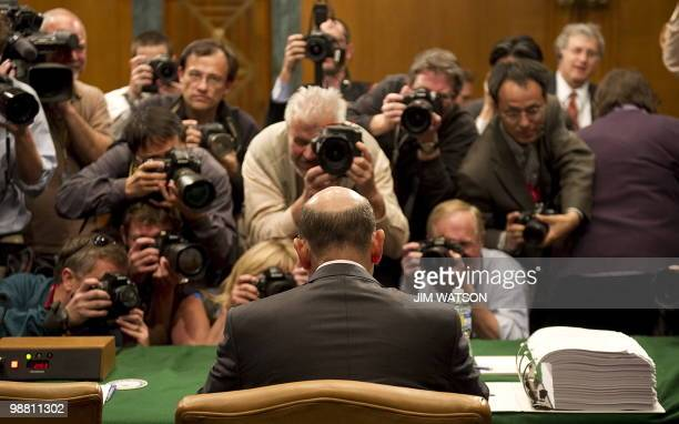 Goldman Sachs CEO Lloyd Blankfein arrives to testify before a Senate investigative committee on Capitol Hill in Washington DC April 27 2010 Goldman...