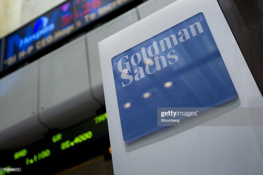Goldman Sachs Group Inc. signage is displayed on the floor of the New York Stock Exchange in New York, U.S., on Thursday, June 2, 2011. U.S. stocks retreated, a day after the biggest slump for the Standard & Poor's 500 Index since August, as investors awaited the Labor Department's monthly report on employment in the world's largest economy. Photographer: Jin Lee/Bloomberg via Getty Images
