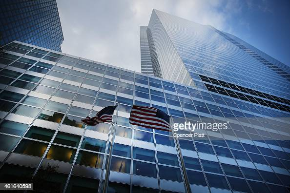 Goldman Sachs Manhattan headquarters are viewed on January 16 2015 in New York City As revenue from its trading and investment banking slid Goldman...