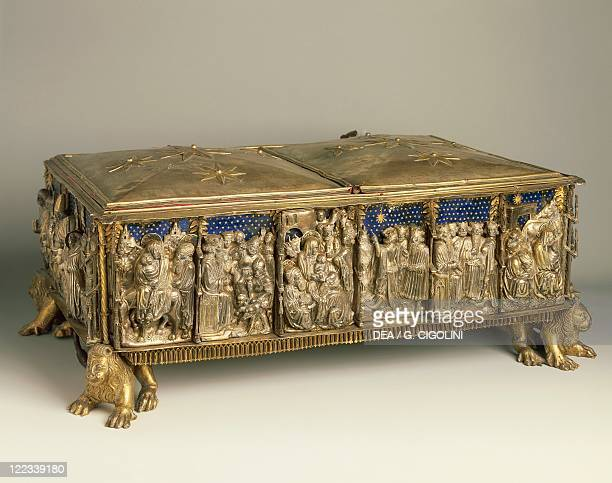 Goldsmith's art Italy 15th16th century Urn reliquary of the Saint Innocents Milanese manufacture