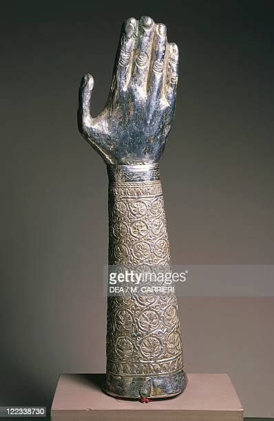 Goldsmith's art Italy Reliquary of the arm of Saint Eustace