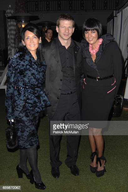 NJ Goldston Lorenz Baumer and Larissa Sabadash attend Lorenz Baumer Private Dinner in Celebration of his Paris Fine Jewelry Collection at The London...