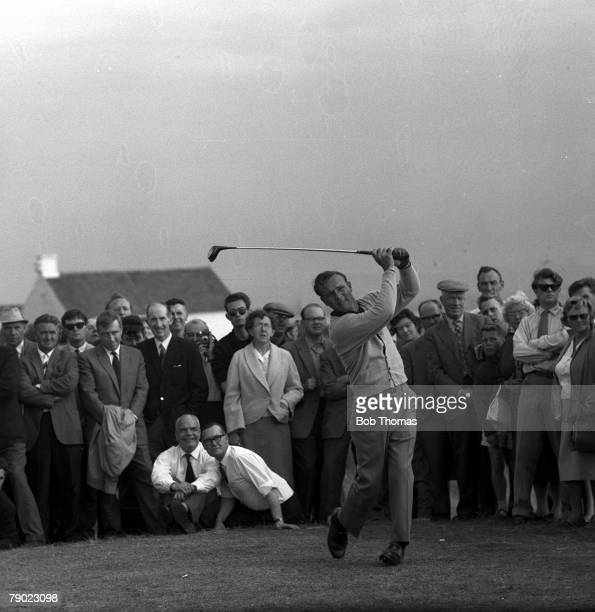 Golf 1962 British Open Golf Championship Royal Birkdale Lancashire USA's Arnold Palmer hits a drive from the tee