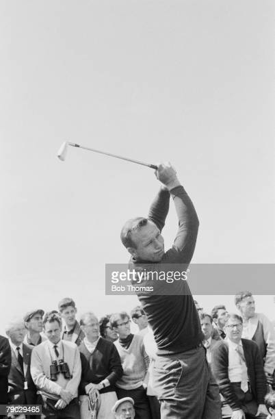 Golf 1963 British Open Championship A picture of Arnold Palmer of USA playing a shot
