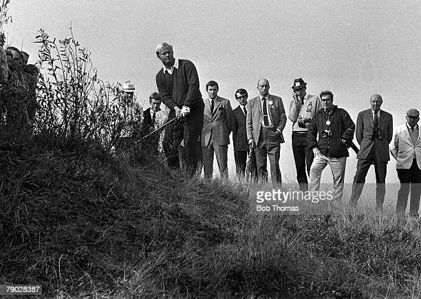 Golf 1969 Ryder Cup Royal Birkdale Great Britain Ireland 16 v America 16 USA's Jack Nicklaus makes a difficult shot from the rough