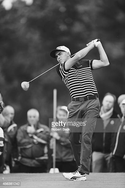 40th Ryder Cup Team USA Rickie Fowler in action drive during Sunday Singles Matches on PGA Centenary Course at The Gleneagles Hotel Auchterarder...