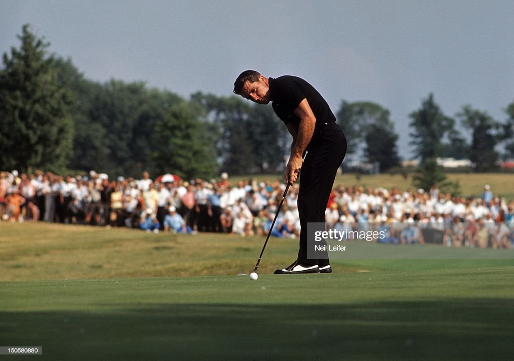 65th US Open Gary Player in action putt during tournament at Bellerive CC St Louis MO CREDIT Neil Leifer