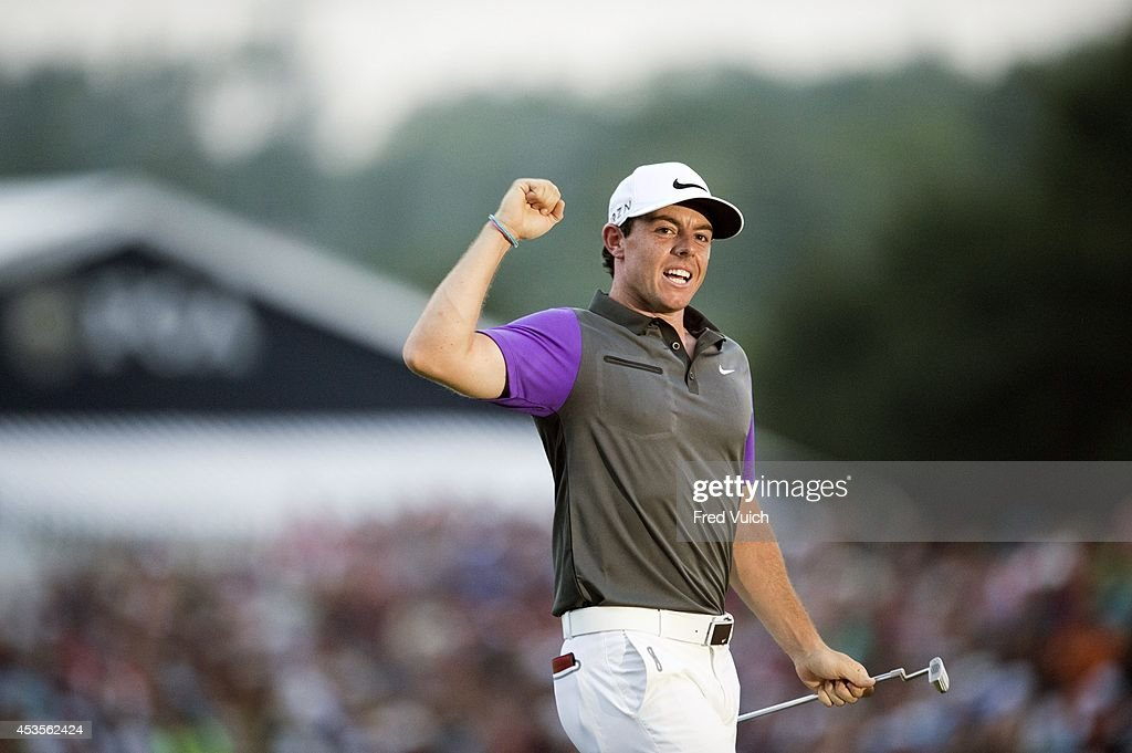 96th PGA Championship Rory McIlroy victorious after winning tournament on Sunday at Valhalla GC Louisville KY CREDIT Fred Vuich