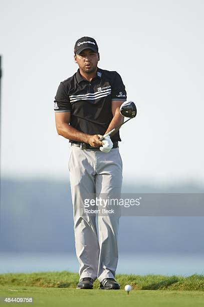 97th PGA Championship Jason Day prepares to tee off during Sunday play at Straits Course of Whistling Straits Kohler WI CREDIT Robert Beck