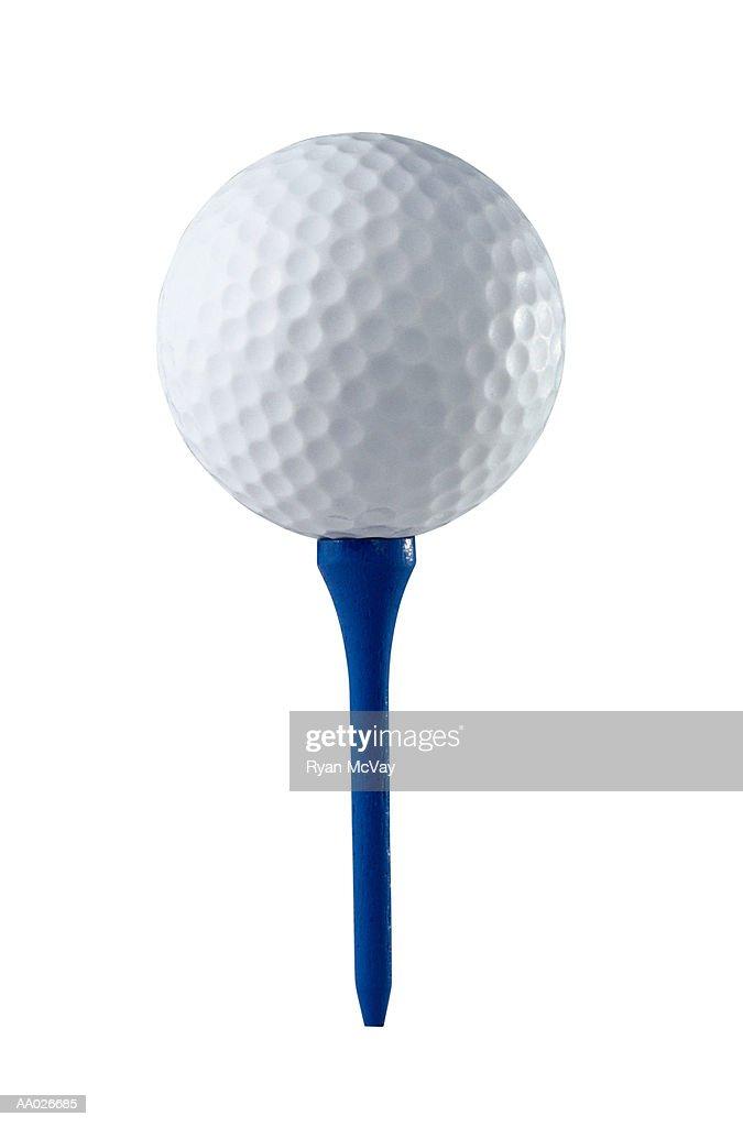 Golf Ball and a Tee