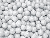 3d render of golf ball background. Sport concept
