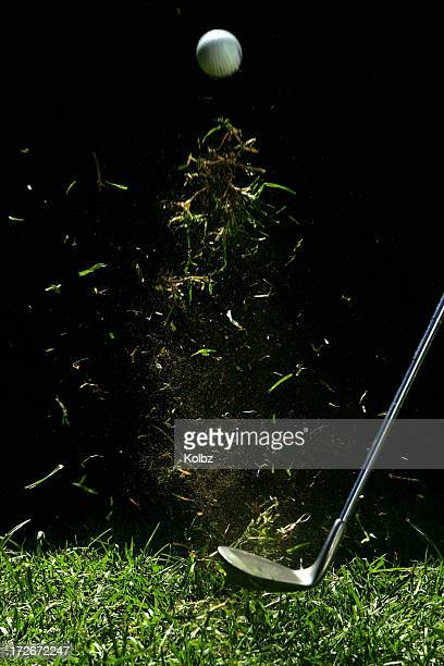 Golf Ball Being Hit