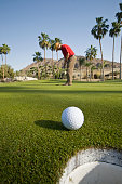 Golf Ball Close to Cup at Phoenician Resort in Scottsdale