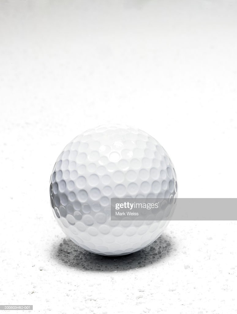 Golf ball close-up, studio shot : Stock Photo