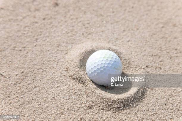 Golf Ball im Sand Trap