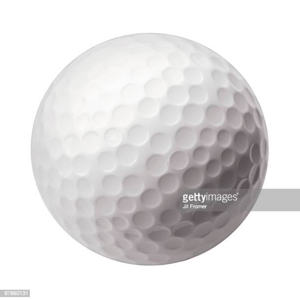 Golf Ball on White Background