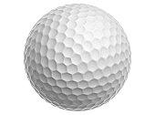 White Golf Ball on a White Background