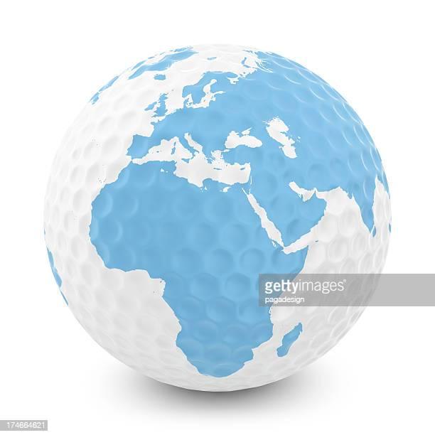 ゴルフボール、アフリカ-ヨーロッパの地図