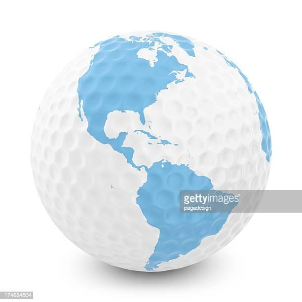 ゴルフボール、北南米のマップ