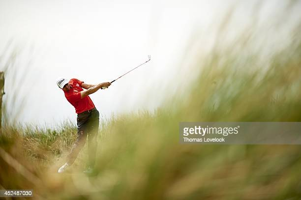 British Open Adam Scott in action during Friday play at Royal Liverpool GC Hoylake England 7/18/2014 CREDIT Thomas Lovelock