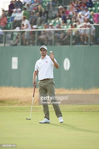 British Open Adam Scott on No 18 green during Thursday play at Royal Liverpool GC Hoylake England 7/17/2014 CREDIT Thomas Lovelock