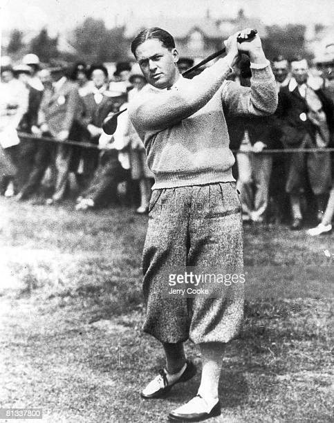 Golf British Open Bobby Jones in action at Royal Liverpool Hoylake GBR 1/1/1930