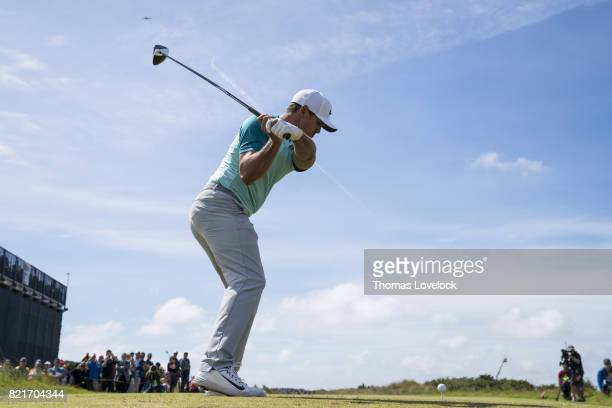 British Open Brooks Koepka in action drive during Sunday play at Royal Birkdale GC Southport England 7/23/2017 CREDIT Thomas Lovelock