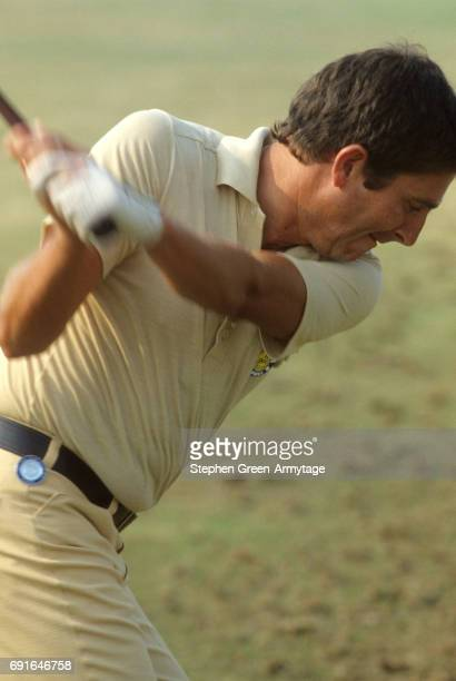 British Open Closeup of Salvador Balbuena in action during Thursday play at Turnberry GC Ayrshire Scotland 7/6/1977 CREDIT Stephen GreenArmytage