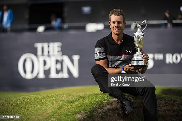 British Open Henrik Stenson victorious Claret Jug after winning tournament on Sunday at Royal Troon Ayrshire Scotland 7/16/2016 CREDIT Kohjiro Kinno