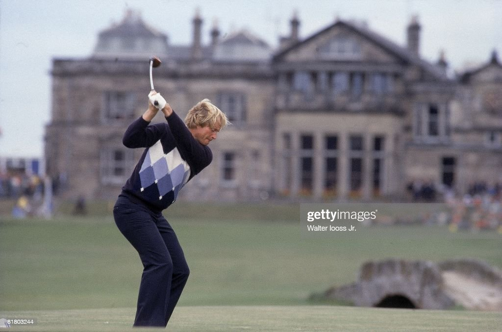 Golf British Open Jack Nicklaus in action St Andrews GBR 1/1/1978