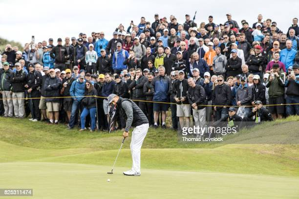 British Open Jordan Spieth in action putt during Thursday play at Royal Birkdale GC Southport England 7/20/2017 CREDIT Thomas Lovelock