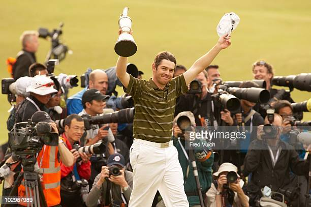 British Open Louis Oosthuizen victorious with Claret Jug trophy after winning tournament on Sunday at Old Course St Andrews Scotland 7/18/2010 CREDIT...