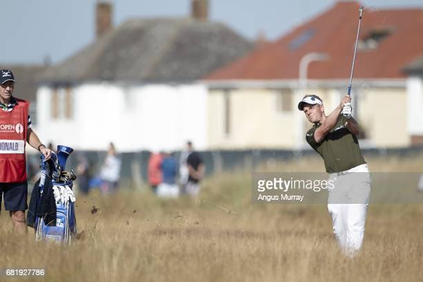 British Open Luke Donald in action during Thursday play at Royal Liverpool GC Hoylake England 7/17/2014 CREDIT Angus Murray