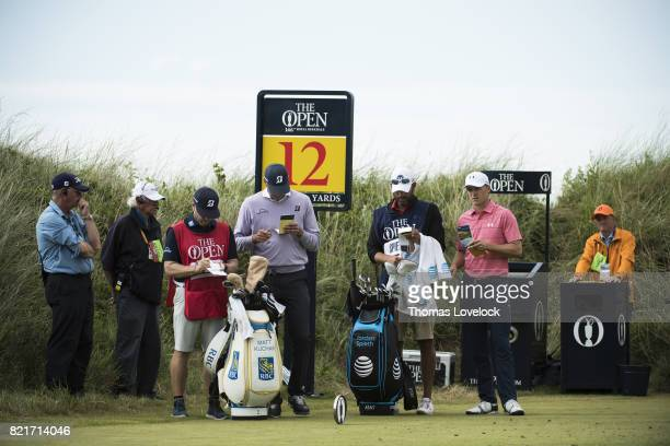 British Open Matt Kuchar and Jordan Spieth in action during Saturday play at Royal Birkdale GC Southport England 7/22/2017 CREDIT Thomas Lovelock