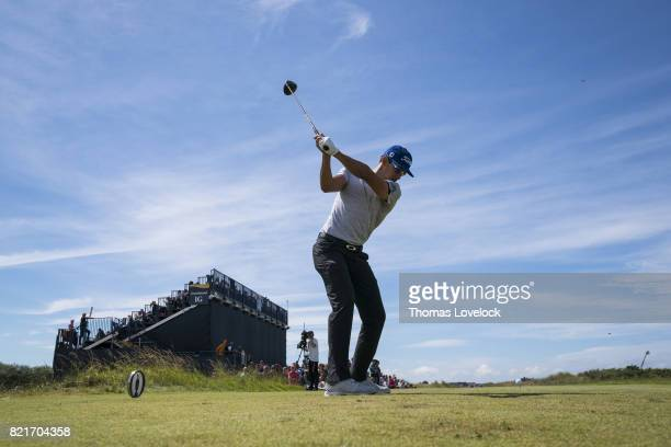 British Open Rafa CabreraBello in action drive during Sunday play at Royal Birkdale GC Southport England 7/23/2017 CREDIT Thomas Lovelock