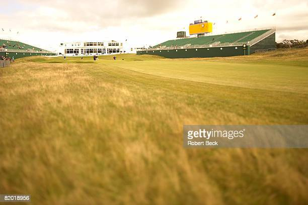 British Open Scenic view of No 18 green and clubhouse on Wednesday before tournament at Royal Birkdale GC Southport England 7/16/2008 CREDIT Robert...