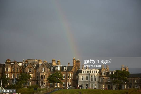 British Open Scenic view of rainbow over town St Andrews Scotland 7/19/2015 CREDIT Erick W Rasco