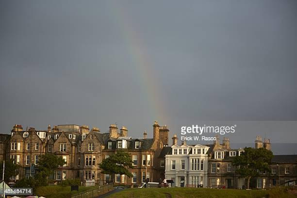 British Open Scenic view of rainbow over town St Andrews Scotland 7/19/2015 CREDIT Erick W Rasco