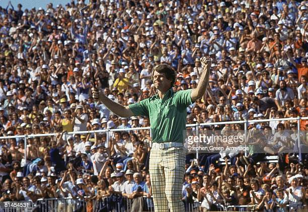 Golf British Open Tom Watson victorious after winning tournament on Sunday at Turnberry GC Ailsa GBR 7/10/1977