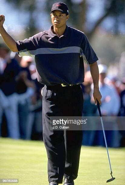 Buick Invitational Tiger Woods during Friday play at Torrey Pines GC La Jolla CA 2/12/1999 CREDIT JD Cuban