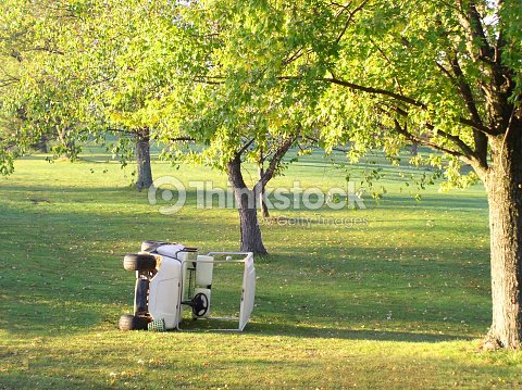 Golf Cart Accident Overturned On Its Side Stock Photo | Thinkstock Demolished Golf Cart on golf cart smashed, golf cart damage, golf cart museum, golf cart modified, golf cart extended, golf cart industrial, golf cart school, golf cart cities, golf cart hotel, golf cart sunk,