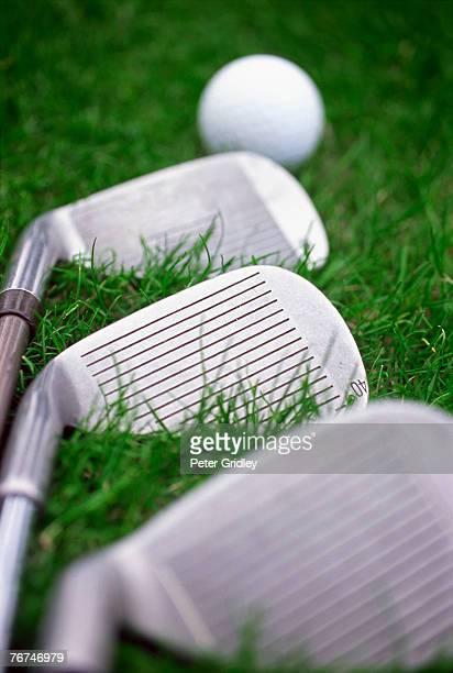 Golf clubs and golf ball