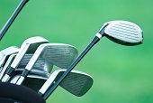 golf clubs close-up