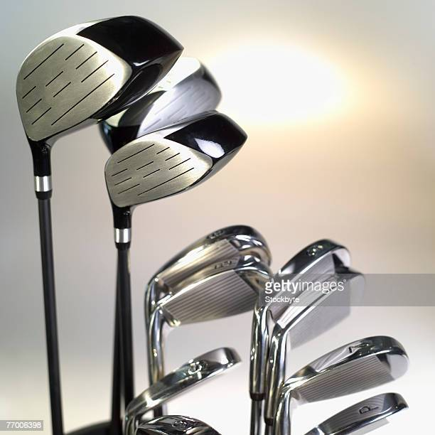 Golf clubs, close-up