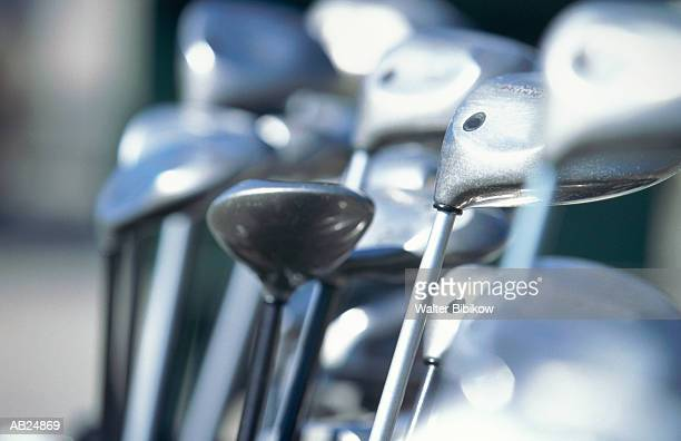 Golf clubs, close-up (focus on center)