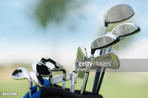 Golf Clubs in Golf Bag