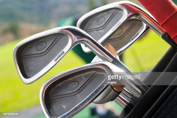 golf clubs macro